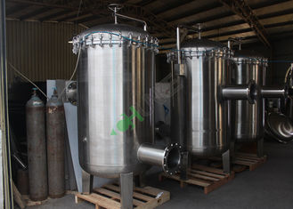 Food And Beverage High Pressure Filter Housing Vessel SS 316 304 Stainless Steel
