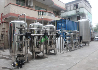 Stainless 304 Reverse Osmosis Water Treatment Machine With Container Automatic Valve